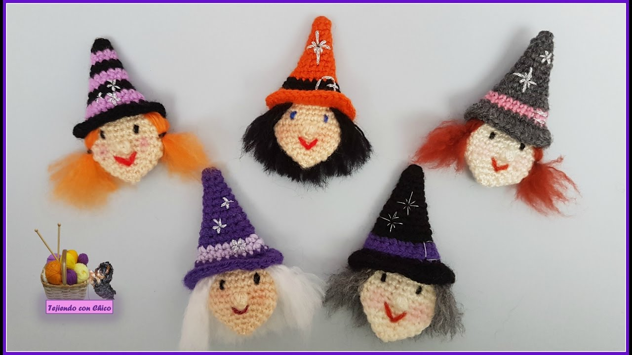 Tutorial bruja crochet youtube - Caras de brujas ...