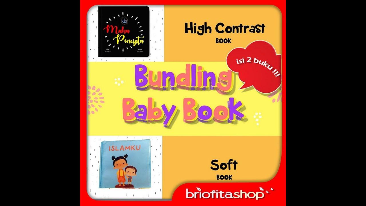 Buku Anak Muslim Bundling Baby Book Soft Book Dan High Contrast Book