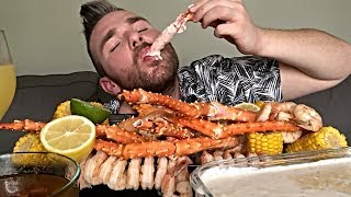 MUKBANG | KING CRAB LEGS | SEAFOOD BOIL EATING SHOW