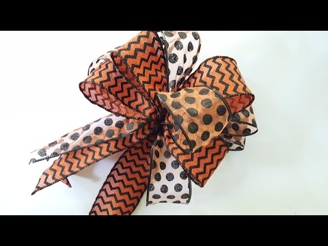 How to Make a Bow | DIY Double Bow | Dollar Tree Ribbon