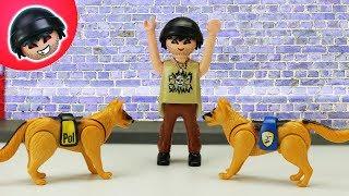 Von Polizeihunden verfolgt! Playmobil Polizei Film - KARLCHEN KNACK #231