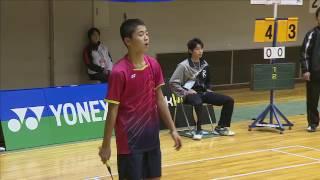 斉藤 駿(新潟)vs 池田 真那斗(香川)6年 決勝 全国小学生バド2016