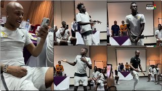 New Black Stars players perform initiation dance in their hotel