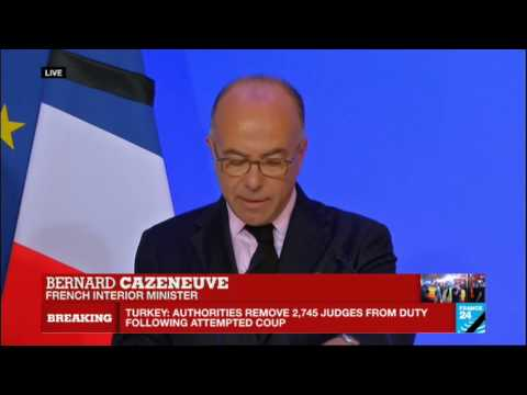 Nice attack: French interior minister Bernard Cazeneuve updates press on ongoing investigation