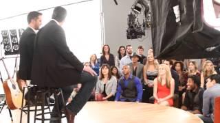 behind the scenes with blake shelton luke bryan 2014 acm awards promo shoot
