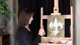 Learn to paint a Black N Gold Fleur De Lis with Stacy LaFleur