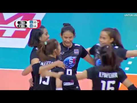 Volleyball SMM 6th AVC CUP FOR WOMEN 2018 - Set 2/4 - Thailand Vs Japan - 17092018