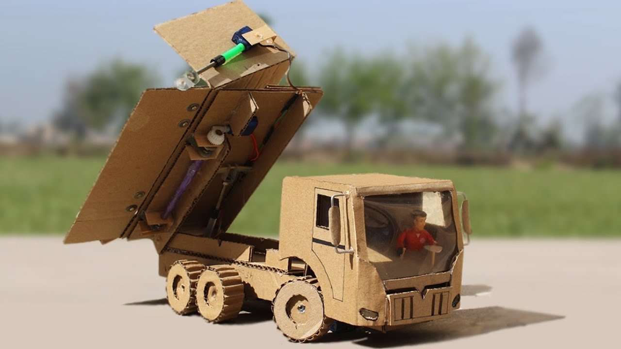 Download How to Make a RC Side Tipper Truck With Cardboard ! One Side Tipper Truck