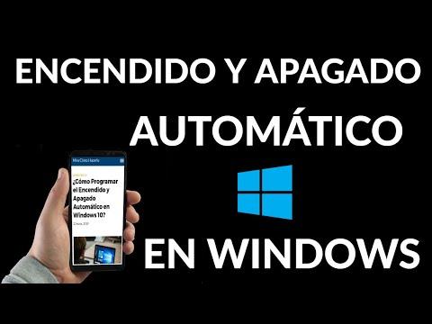 Cómo Programar el Encendido y Apagado Automático en Windows 10