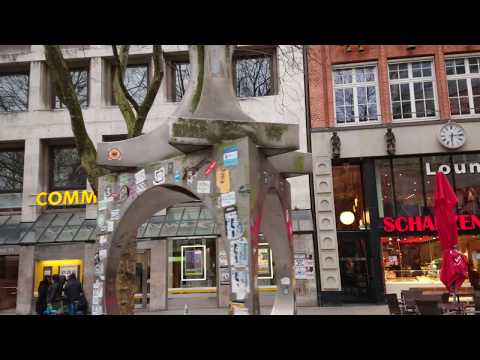 Walking in Hamburg the Shopping Streets 4K 2018 P2 real-time tour