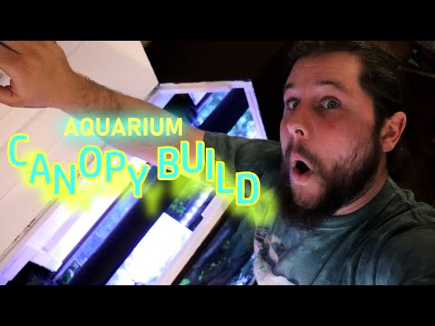 HOW TO Build An AQUARIUM CANOPY (55 Gallon) DIY