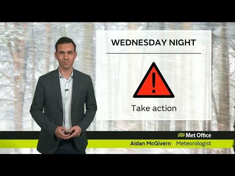 Wednesday evening forecast 28/02/18