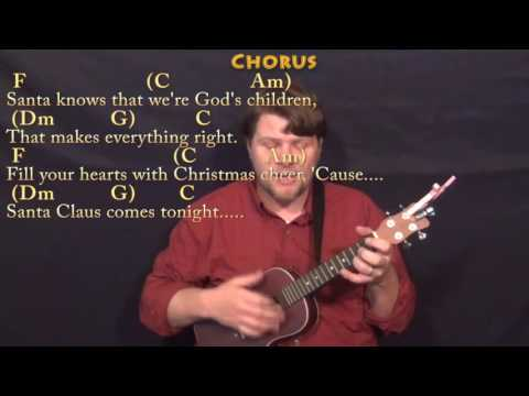 Here Comes Santa Claus - Ukulele Cover Lesson in C with Chords/Lyrics