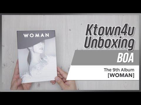 [Ktown4u Unboxing] BOA - 9th Album [WOMAN] 보아 언박싱