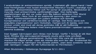 Till minnet av Kristallnatten - Allan Stutzinskys tal i Göteborgs Synagoga 2011