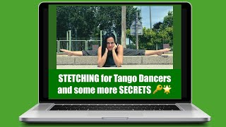 Stretching for TANGO!🌼For a healthy and better dance‼️Check secrets✓ TANGO Elongación➕Secretos💥