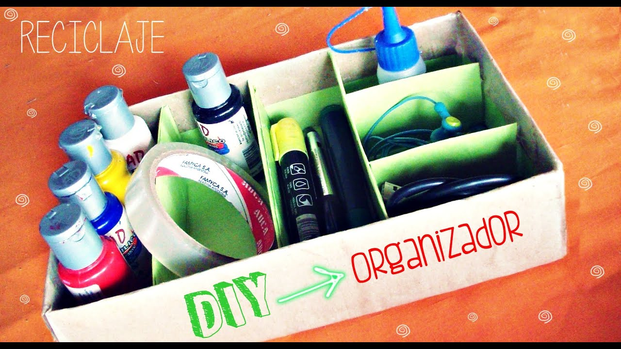 Diy como hacer un organizador para escritorio f cil - Organizador escritorio ...