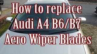 Fits Audi A4 B6 Saloon Bosch Superplus Front Windscreen Wiper Blades