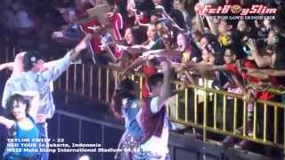 TAYLOR SWIFT - 22 ( DOWN TO AUDIENCE ) live in Jakarta, Indonesia 2014