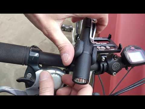 Bicycle Flashlight Mount Installation