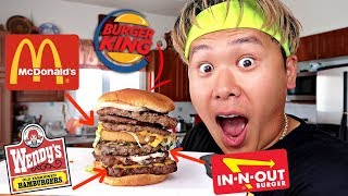 Mixing Every Fast Food Burger Together To Make The Perfect Burger (SCIENCE EXPERIMENT)