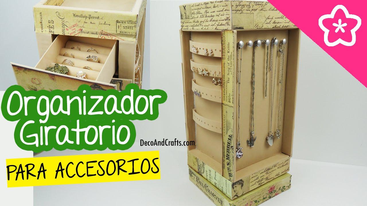 Organizador giratorio de cart n para accesorios y joyas for Organizador de cocina accesorios