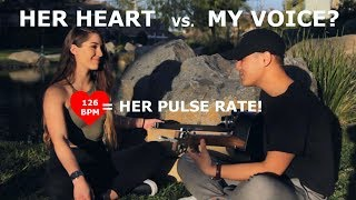 HEART RATE CHALLENGE! | Can My Singing Calm Her Heart? thumbnail