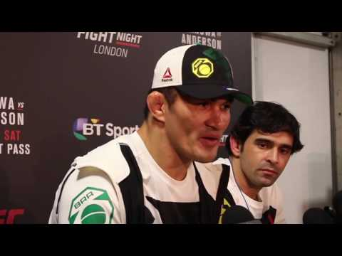 Media scrum with Francimar Barroso at UFC London