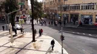 Yom HaShoah 2015: Memorial Siren in Downtown Jerusalem