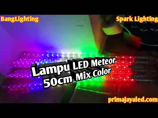 Lampu LED Meteor 50cm Mix Color