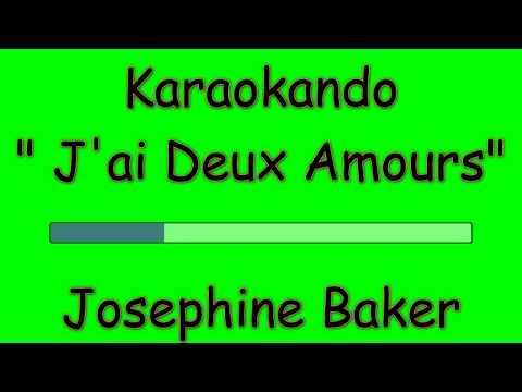 Karaoke Internazionale - J'ai Deux Amours - Josephine Baker ( Texte )