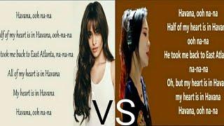 Havana - Camila Cabello VS J.Fla (With Lyrics)