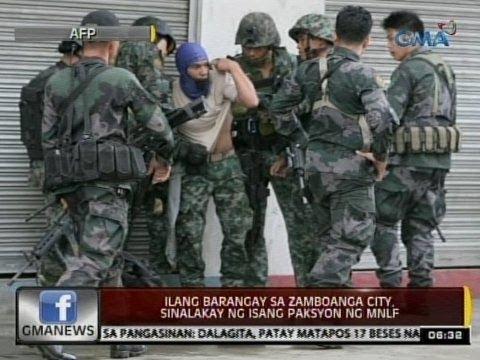 24 Oras: Ilang barangay sa Zamboanga City, sinalakay ng isang paksyon ng MNLF