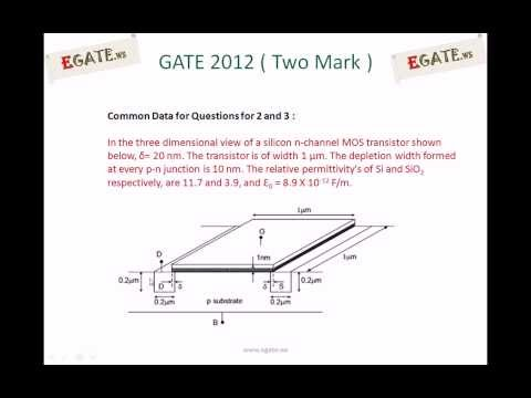 Problem on gate source capacitance of MOSFET - GATE 2012 EC solved paper (Electron Devices)