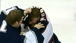 Atlanta Trashers vs Edmonton Oilers Brawl 2004 + Pasi Nurminen vs Ty Conklin