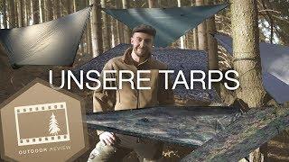 6 Tarps von 37 bis 409 Euro | BE-X, DD, TacGear, Cuben Fiber, AliExpress | Outdoor Review