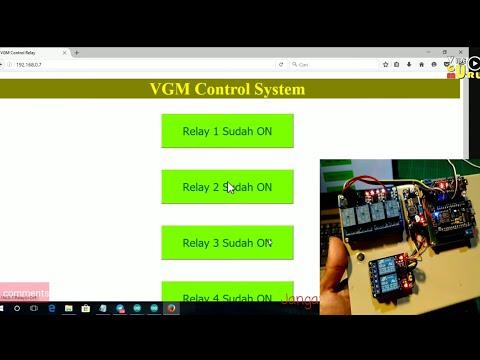 🔴Live Esp8266 Webserver Control Relay Via Website Melalui Jaringan WiFi