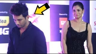 Sushant Singh Rajput IGNORES Ex Girlfriend Ankita Lokhande In Front Of Media At Star Screen Awards