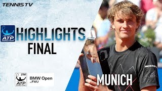 Highlights: Zverev Retains Munich Trophy With Win Over Kohlschreiber