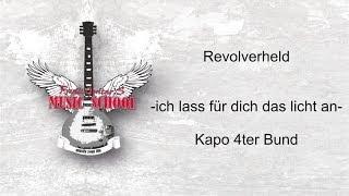Revolverheld - Ich lass für dich das Licht an I Gitarren Tutorial für Anfänger I Akkorde I Rhythmus