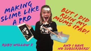 I BROKE my mums ipad making slime... like a pro!