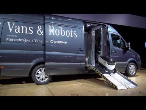 Robovan Starship Technologies and Mercedes Benz Vans