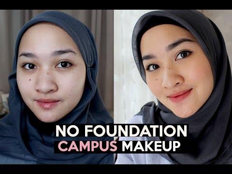 Makeup Kampus Tanpa Foundation   Maybelline One Brand Tutorial   Kiara Leswara