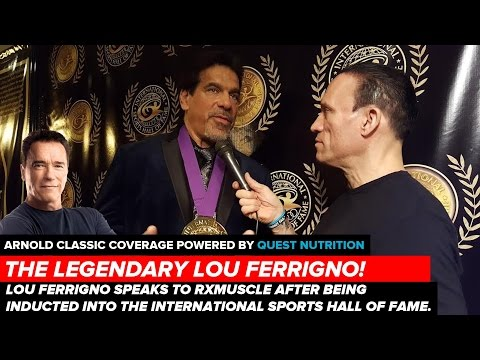 Lou Ferrigno Motivational Advice at the International Sports Hall of Fame