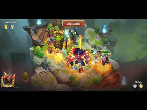 Castle Clash Lost Battlefield Testing Out 8/9 Revitalize And 7/8 Iron Will Storm Eater