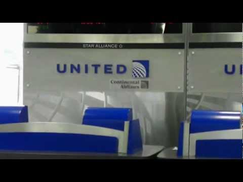 HD Continental Airlines Houston Hub Now Re-branded Into United Airlines