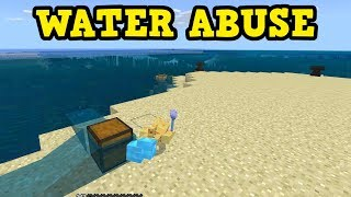how to abuse water in the minecraft update aquatic 113