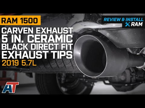 2019 RAM 1500 5.7L Carven Exhaust 5 in. Ceramic Black Direct Fit Exhaust Tips Review & Install