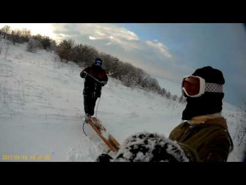 BAC MyVideo. Winter vacation Drive a sleigh from the Big Mountain. @2017.01.15@. \(^_^)/\(*_*)/. =)