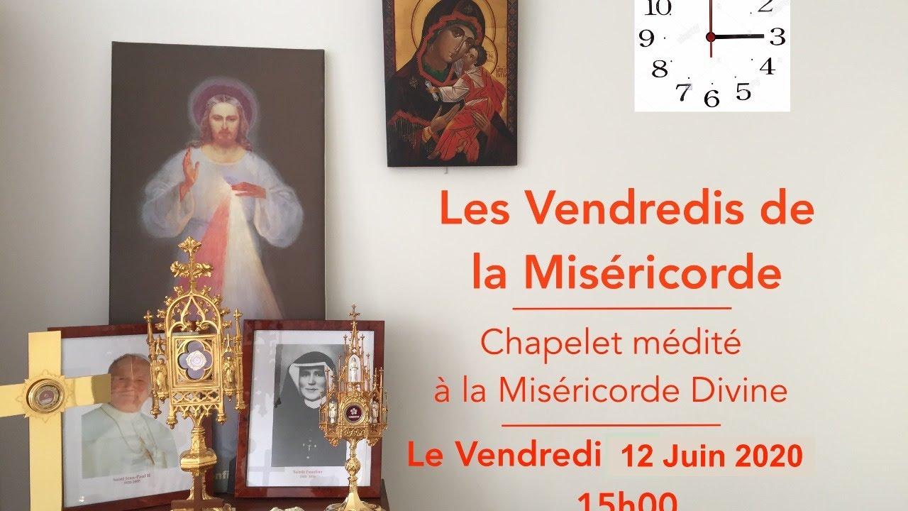 Chapelet à la Miséricorde Divine médité 12 juin 2020